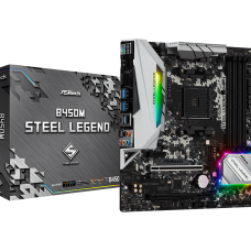 ASRock AMD B450M Steel Legend Gaming Motherboard
