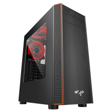 Aigo SKYRED Half Transparent Mid Tower Chassis